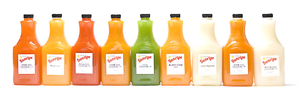 Sunripe juice concentrates, available in various strengths